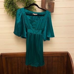 Green Betsey Johnson Dress with Tie, Size 4